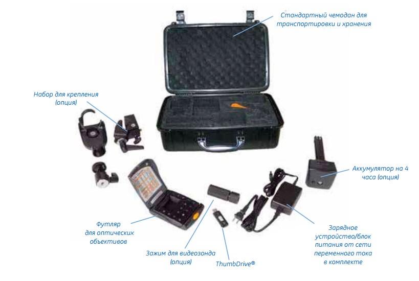 Комплектность видеоэндоскопа XL Lv